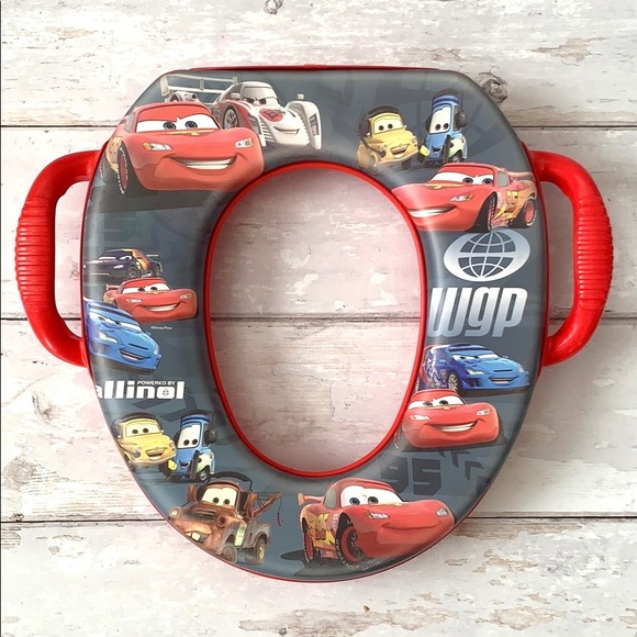Disney Cars Toilet Potty Training Toddler Seat Red
